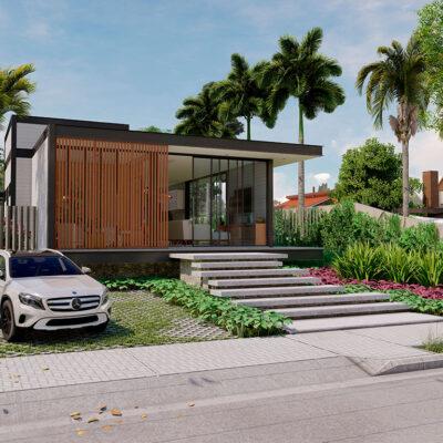 Projeto para Construção Residencial LOFT em Condomínio Fechado