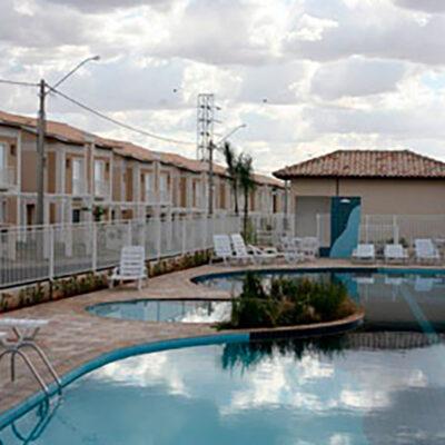 Construção de área de lazer para condomínio residencial